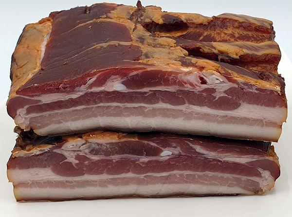 Schweinebauch geräuchert 100g