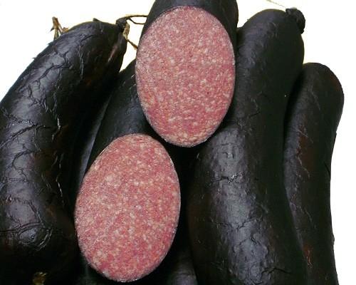 Schwarze Rauchsalami 100g